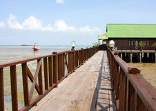 Pier In Thailand Stock Image