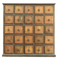 Free Old Wooden Drawers Royalty Free Stock Photos - 20682078