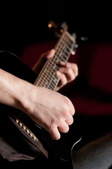 Free Setting The Mood With My Guitar Stock Image - 20682261
