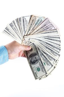 Free 5000 Dollars In A Hand Of The Man Stock Photography - 20682912