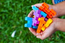 Free Plastic Toy Block Royalty Free Stock Photography - 20683037