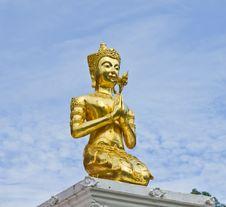 Thai Deva In The Temple Royalty Free Stock Photo