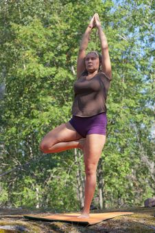 Free Yoga In Forest Stock Photo - 20684570