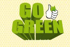 Free 3d Go Green Royalty Free Stock Photo - 20684795