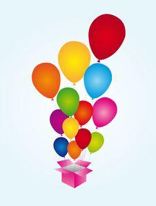 Free Balloons Surprise Stock Image - 20684801