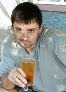 Free Portrait Of Handsome Man Drinking Stock Images - 20685884