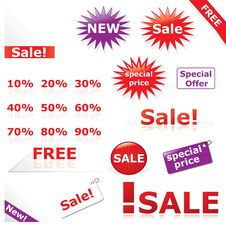 Free Discount Icons & Labels Royalty Free Stock Photos - 20687128