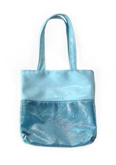Free Blue Bag With Sequins On A White Background Stock Images - 20687274