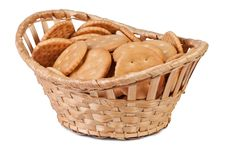Cookies In A Basket. Stock Image