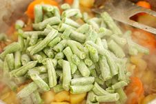 Frozen Green Beans Stock Images
