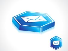 Abstract Blue Mail Button Royalty Free Stock Photo