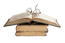Free Old Books And Spectacles Stock Photography - 20687862