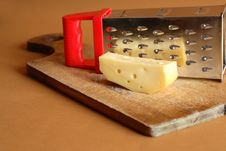 Cheese And Grater Royalty Free Stock Photo