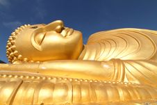 Free Reclining Buddha Statue Stock Photography - 20689142
