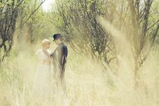 Free Young Couple, Newly Wedded, Dressed In Retro Style Royalty Free Stock Photo - 20689155