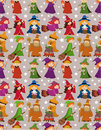 Free Cartoon Wizard And Witch Magic Seamless Pattern Royalty Free Stock Photography - 20694077