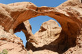 Free Double Arch In Arches National Park Royalty Free Stock Photo - 20697395