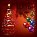 Free Christmas Tree With Decoration Royalty Free Stock Photos - 20697468