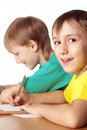 Free Two Boys Drawing Stock Photo - 20698700