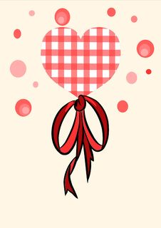 Free Red Heart With Beauty Bow - Vector Stock Photography - 20690722