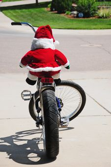 Free Santa S New Sled Stock Photography - 20692292