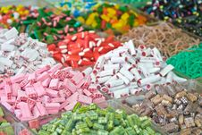 Assorted Multicolored And Multishaped Candies Royalty Free Stock Image