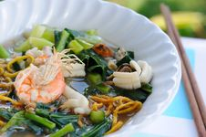 Noodles Seafood Stock Image