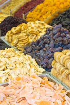 Colorful Dried Fruits And Dates Royalty Free Stock Images