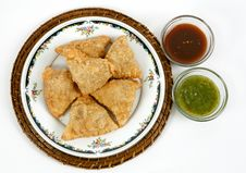 Free Samosas With Sauce Stock Images - 20693274
