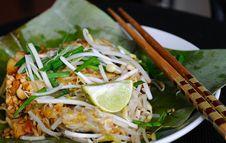 Thai Stir-fried Noodles Royalty Free Stock Photo