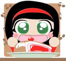 Free Girl With Pie Stock Photos - 20693503