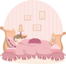 Free Sleepy Girl Royalty Free Stock Photography - 20693697
