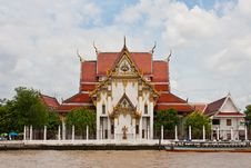 Temple At Riverside Royalty Free Stock Photo