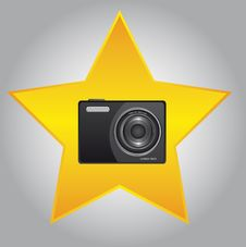 Camera And Star Stock Photos