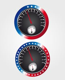 Free Speedometer Usa Stock Photos - 20693933