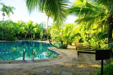Free Pool Of Ressort  In Thailand Royalty Free Stock Images - 20693989