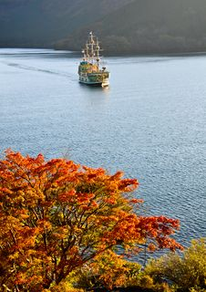 Free Hakone Sightseeing Cruise At Ashi Lake Stock Photos - 20694033