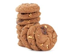 Free Cookies With Nuts And Chocolate Stock Image - 20694351