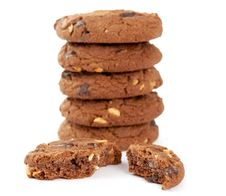 Free Cookies With Nuts And Chocolate Stock Photos - 20694363