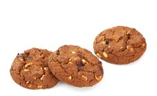 Free Cookies With Nuts And Chocolate Stock Photo - 20694370