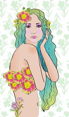 Free Creative Hand Painted Fashion Illustration Royalty Free Stock Image - 20694896