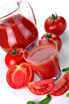 Free Jug, Glass Of Tomato Juice And Fruits Royalty Free Stock Photos - 20695008