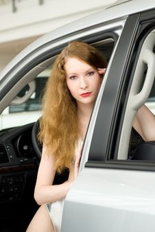 Free Beautiful Woman At The Car Royalty Free Stock Images - 20695099