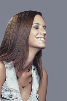 Free Laughing Girl In Studio Stock Image - 20695681