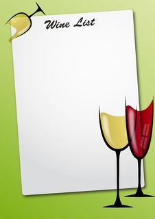 Free Wine Glass Sheet Royalty Free Stock Photography - 20695817