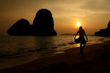 Free Railay Sunset Royalty Free Stock Photography - 20696177