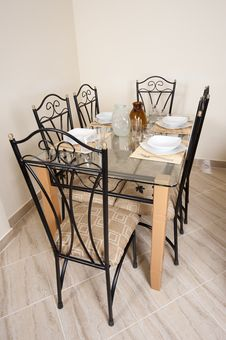 Free Large Dining Table And Chairs In A House Royalty Free Stock Photography - 20696187