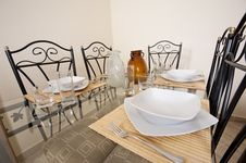 Large Dining Table And Chairs In A House Royalty Free Stock Photos