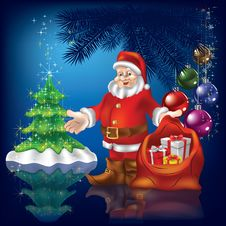Free Christmas Greeting With Santa Claus Stock Photography - 20697162