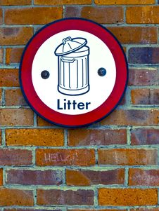 Free Litter Sign Stock Photography - 20697342